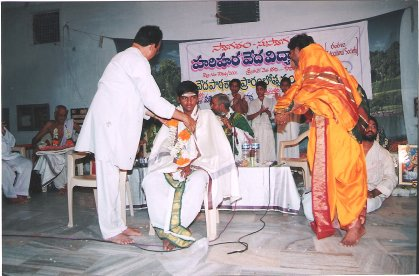 Felicitating teacher